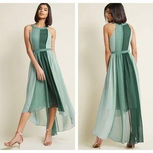 480789cd68af9a ModCloth Dresses - MODCLOTH Peachy Queen Maxi Dress Pear Green {L1}